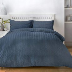 Seersucker Navy Duvet Set