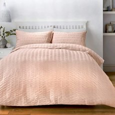 Seersucker Blush Duvet Set
