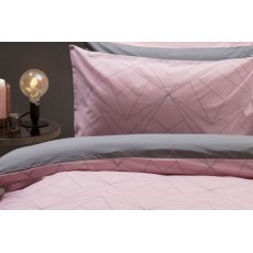 Trapeze Blush/Grey Duvet Cover Set