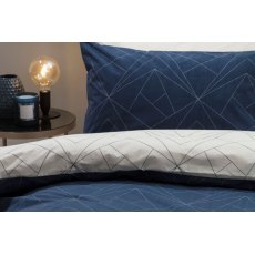 Trapeze Navy/Ivory Duvet Cover Set