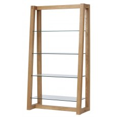 Royal Oak Angled Glass Shelf Unit