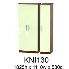 Knightsbridge 3 Door Plain Wardrobes