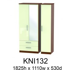 Knightsbridge 3 Door Wardrobes with Mirror